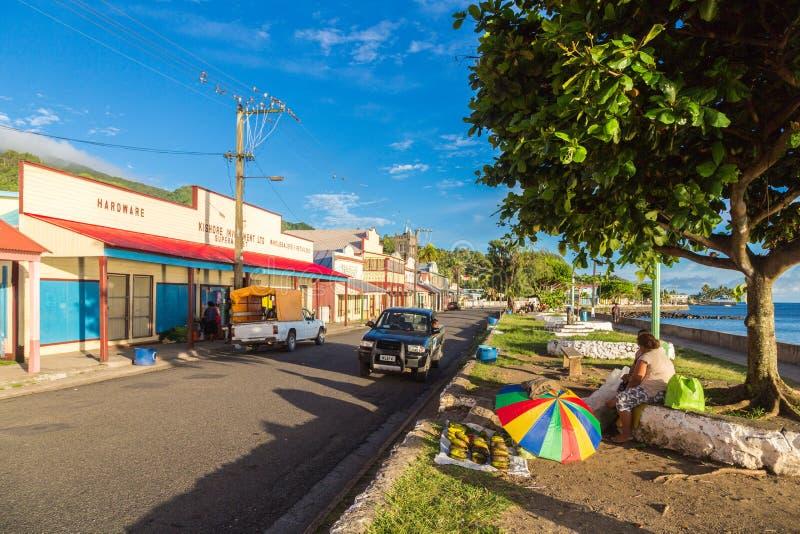 Levuka, Fiji: Colourful wibrujące ulicy stary kolonialny kapitał Fiji, Levuka miasteczko -, Ovalau wyspa, Fiji, Melanesia, Oceani fotografia royalty free