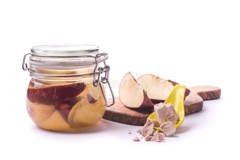 Levure sauvage de fermentation de fruit photos stock