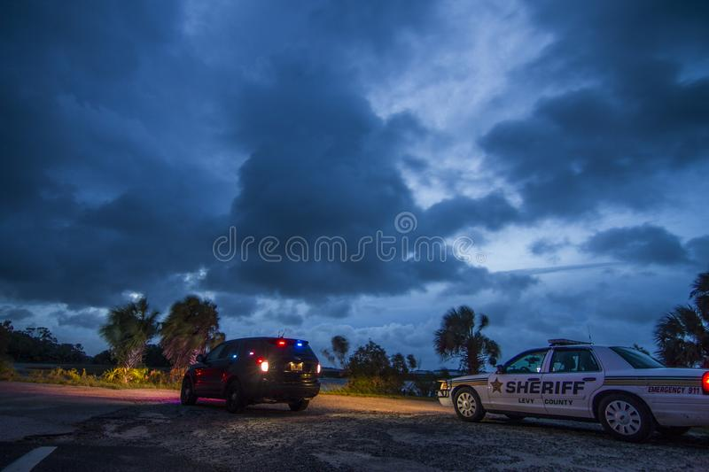 Levy County Sheriff Florida rad closure royalty free stock image
