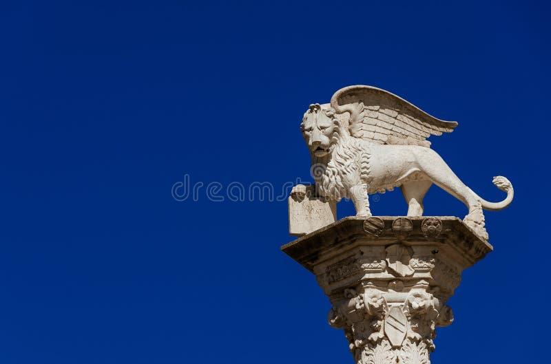 Lew Świątobliwy Mark w Vicenza zdjęcia royalty free
