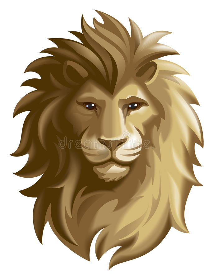 lew royalty ilustracja