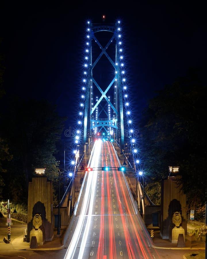 Lew bramy most w Vancouver kolumbiach brytyjska zdjęcia stock