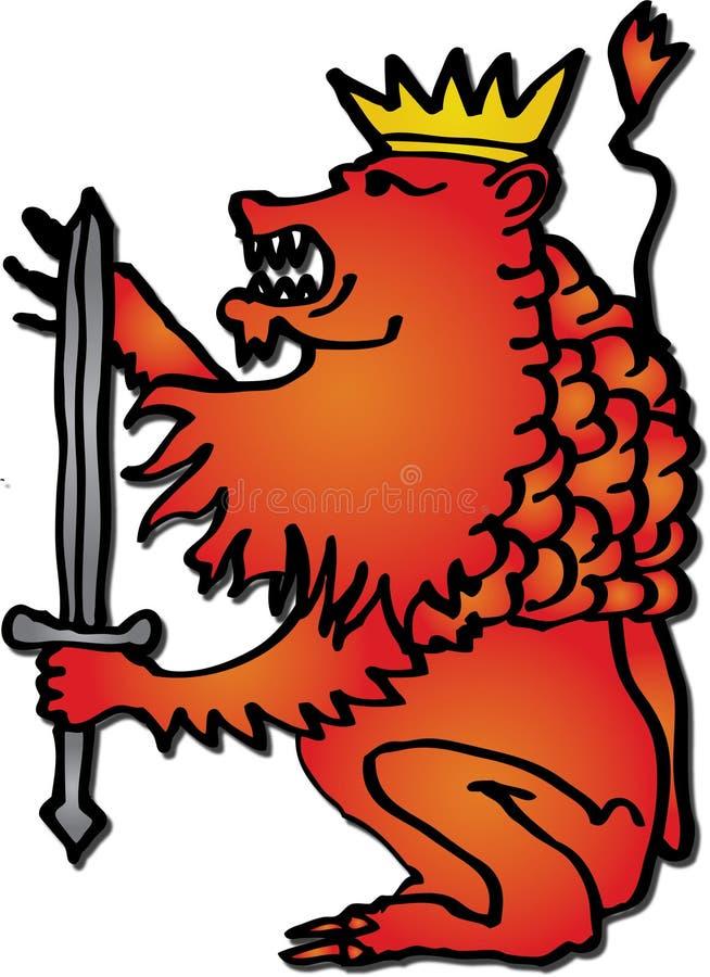 lew czerwień ilustracja wektor