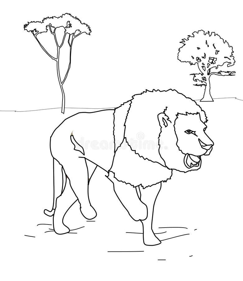 Lew kolorystyki strona royalty ilustracja