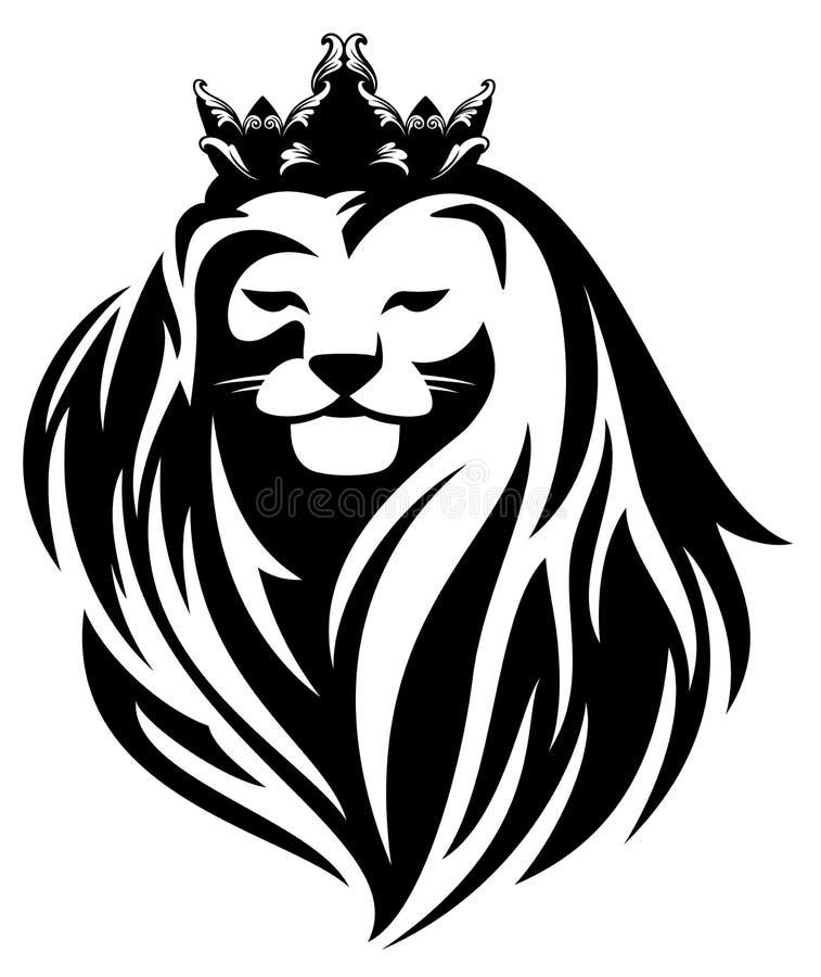 lew królewski ilustracji