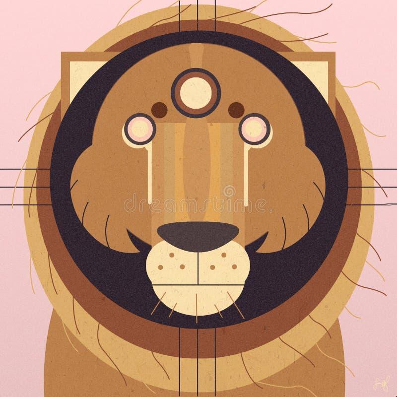 Lew: Mądry królewiątko dżungla ilustracji