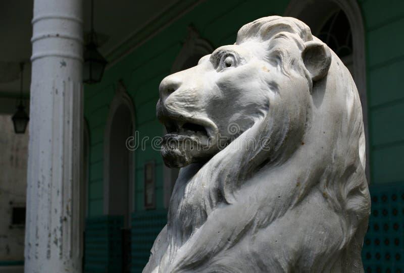 Lew marmurowa statua fotografia stock