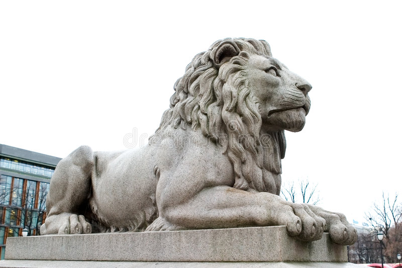 lew posąg zdjęcie stock