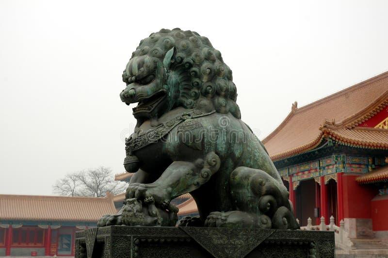 lew posąg fotografia stock