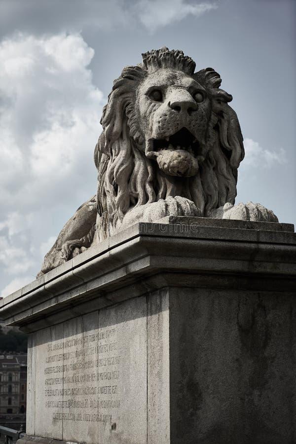 Lew rzeźba na secie fotografia stock