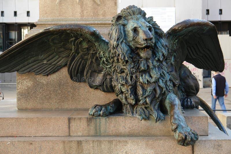 lew skrzydlata fotografia royalty free