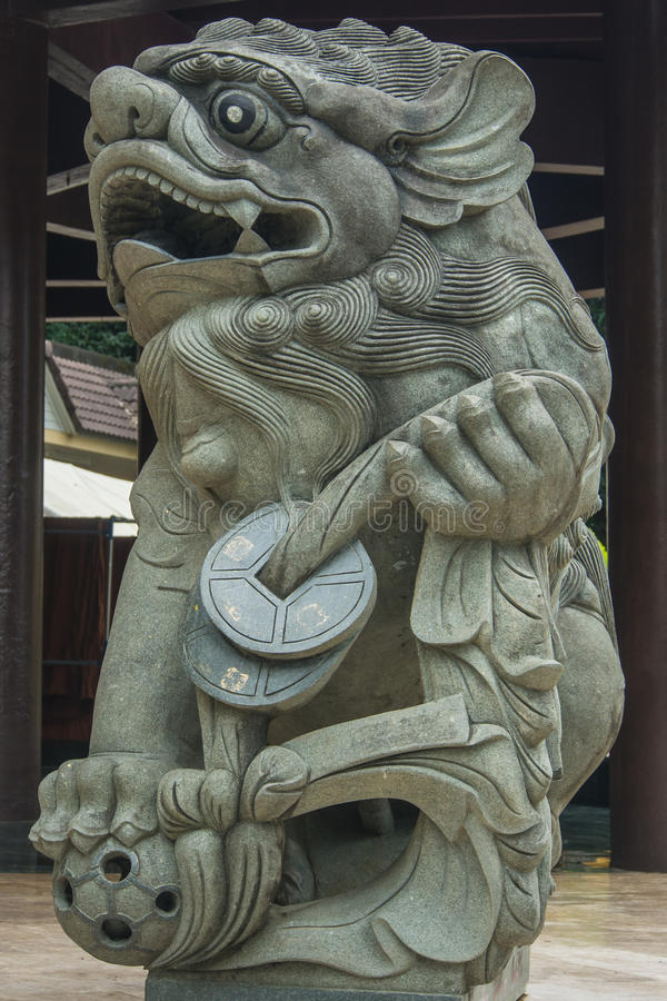 Lew strażowa statua zdjęcie stock