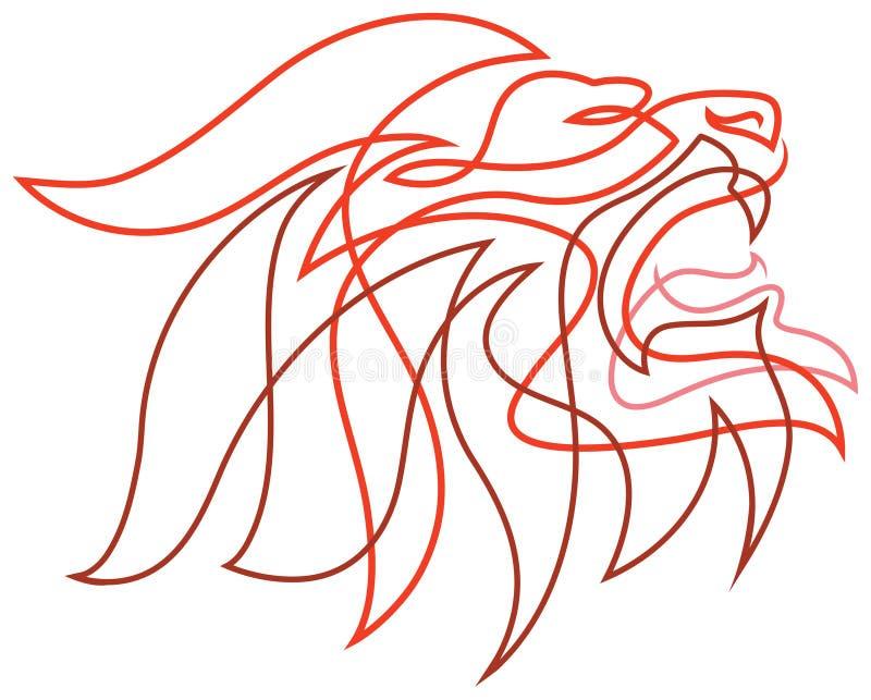 Lew wściekły royalty ilustracja