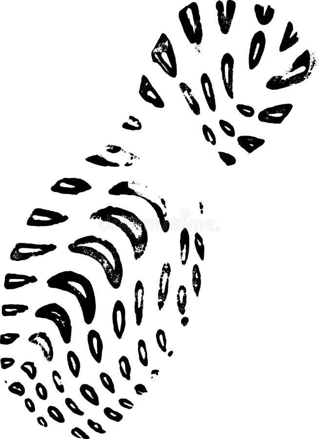lewa plimsole druku royalty ilustracja
