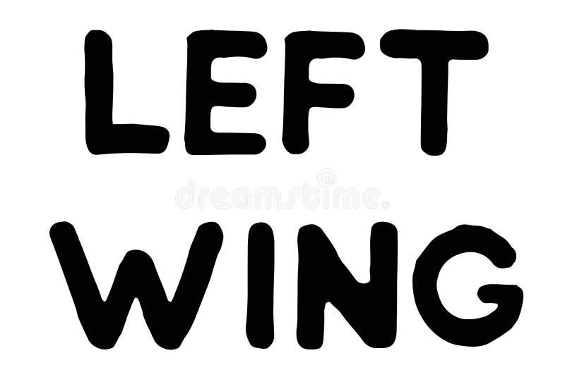 Lewe Skrzydło Partii typograficzny znaczek royalty ilustracja