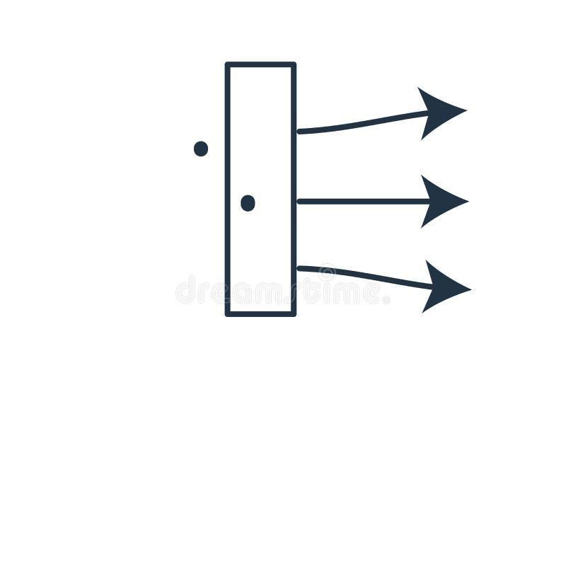 Lewej strzały ikony wektor odizolowywający na białym tle, Lewej strzały znak ilustracji