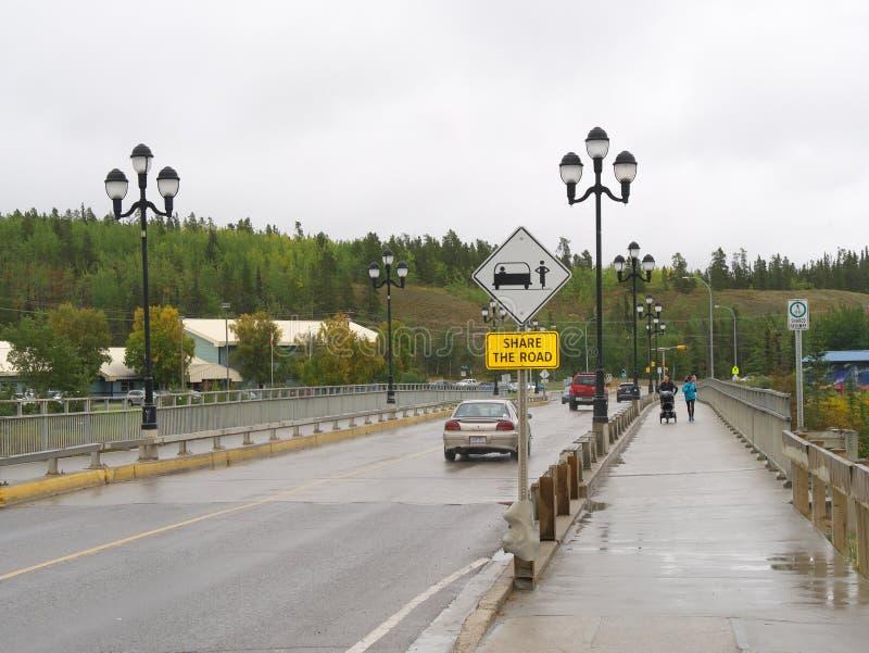 Lewes-Boulevard auf dem Yukon in Whitehorse, Kanada lizenzfreies stockbild