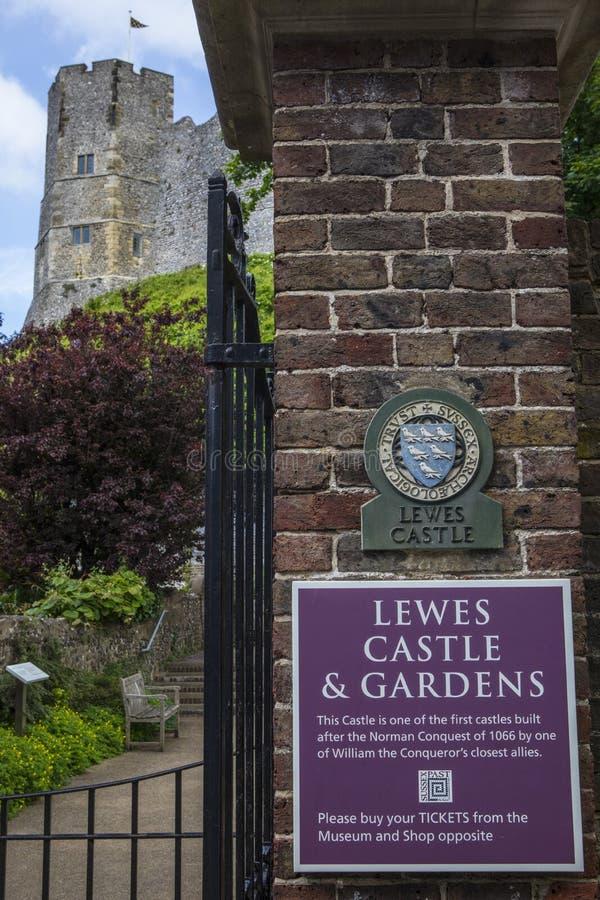 Lewes Castle και κήποι στοκ εικόνα με δικαίωμα ελεύθερης χρήσης