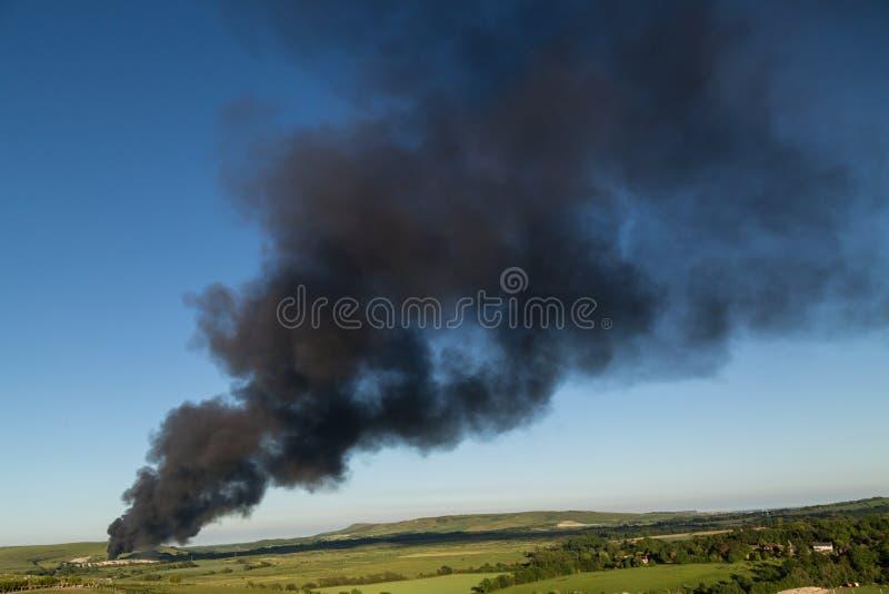 Lewes che ricicla il fuoco del centro immagini stock