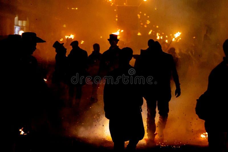 Lewes-Feuer-Nacht stockbilder