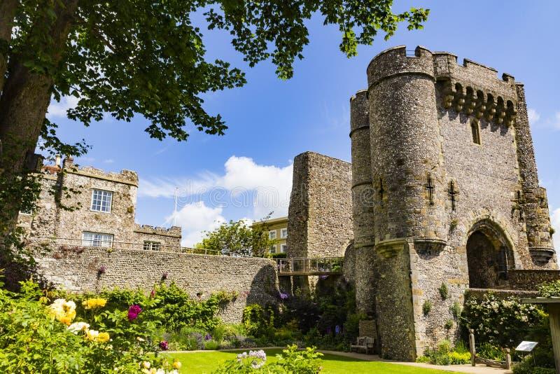 Lewes-Schloss stockbilder