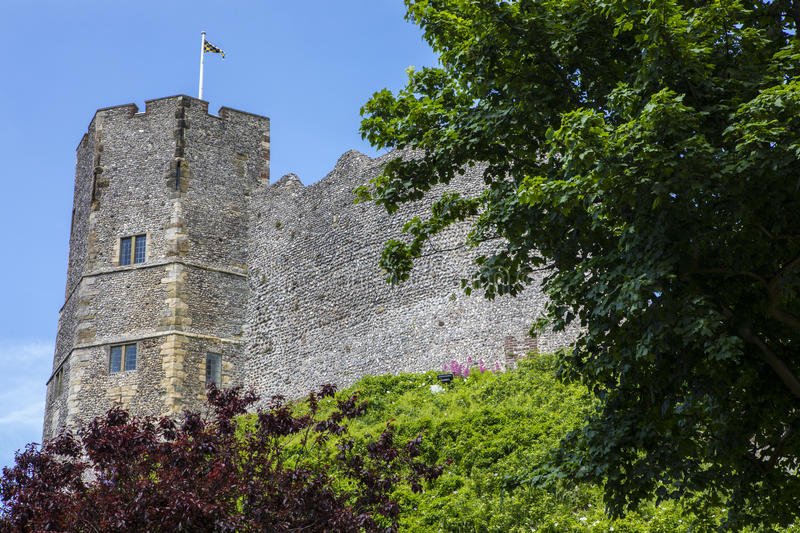 Lewes-Schloss in Ost-Sussex stockfotografie
