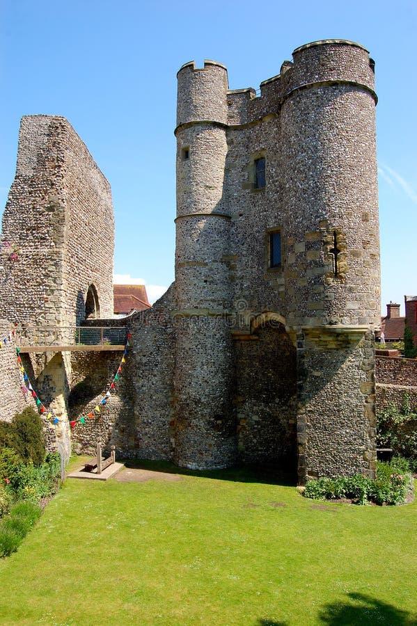 Lewes-Schloss, Sussex England stockfotos