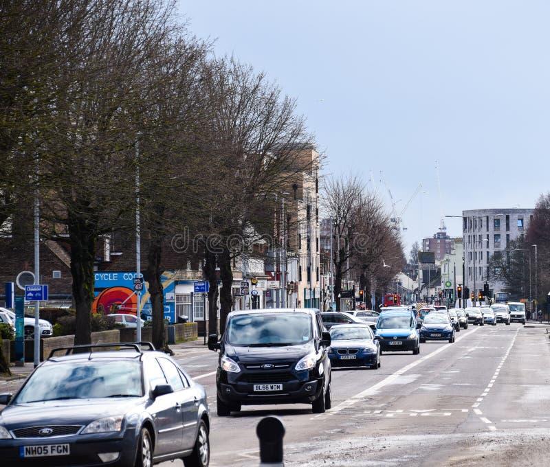 Lewes-Straßen-Verkehr lizenzfreies stockbild