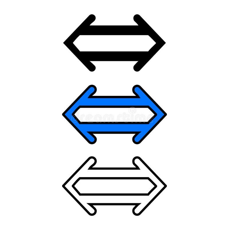 Lewica i prawica dwoista strzała ilustracja wektor