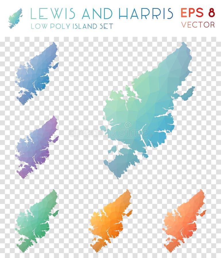 Lewis και γεωμετρικοί polygonal χάρτες Harris, μωσαϊκό ελεύθερη απεικόνιση δικαιώματος