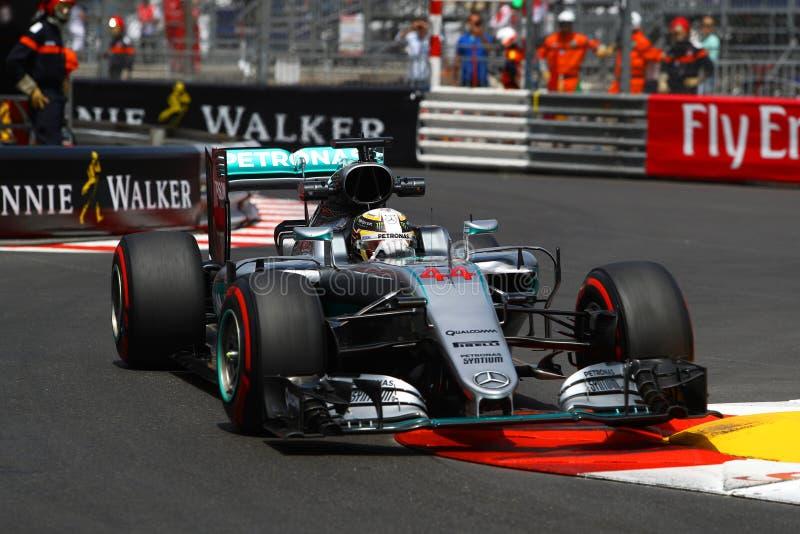 Lewis Χάμιλτον (GBR)  Ομάδα AMG Mercedes F1  2016 Μονακό GP  ελεύθερος στοκ εικόνες