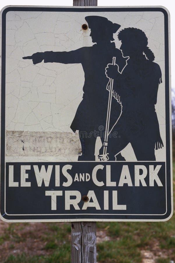 Lewis et Clark traînent le signe photos libres de droits