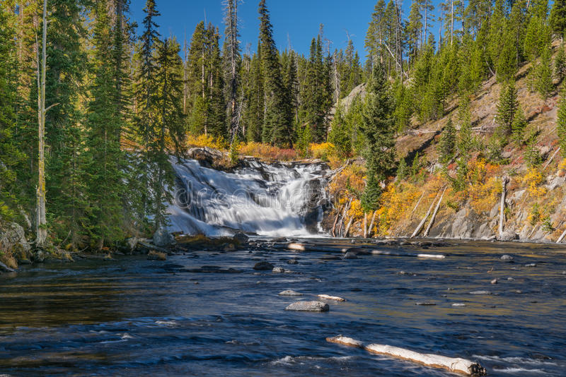 Lewis Falls Yellowstone National Park foto de stock