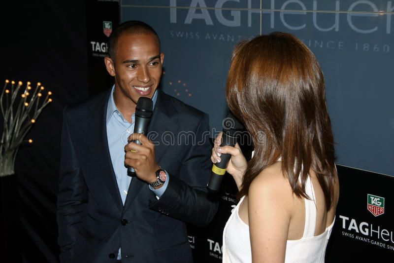 Lewis Hamilton lizenzfreies stockbild