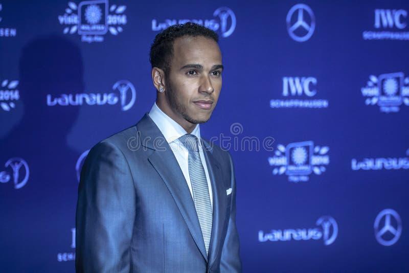 Lewis Hamilton em concessões de Laureus imagem de stock