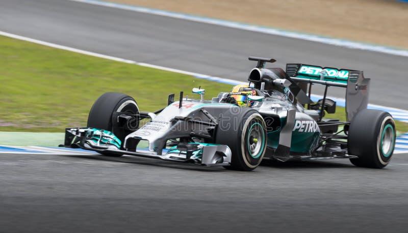 Lewis Hamilton-Formel 2014 1 stockbild