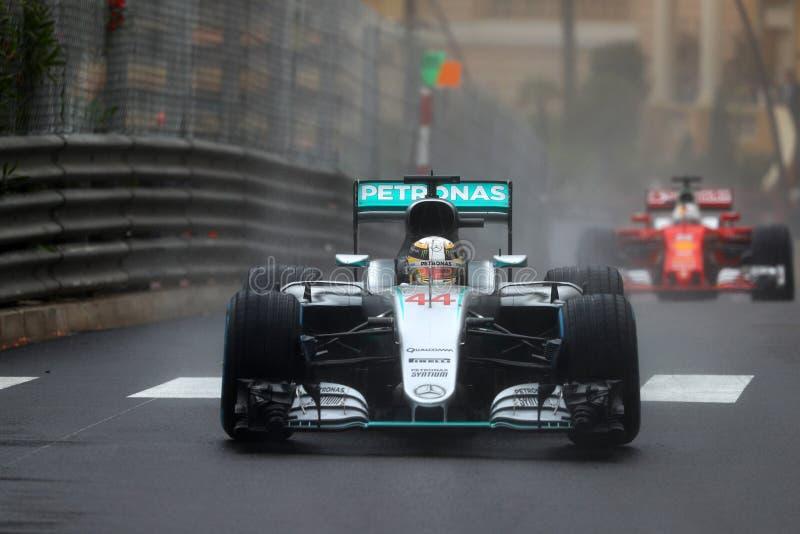 Lewis Hamilton (GBR), équipe d'AMG Mercedes F1, généraliste 2016 du Monaco, image libre de droits