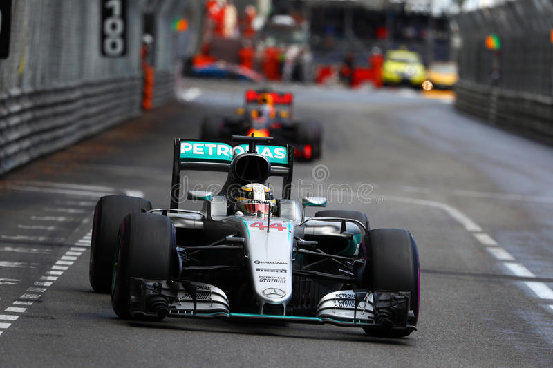 Lewis Hamilton (GBR), AMG Mercedes F1 Team, 2016 Monaco Gp, royalty free stock photos