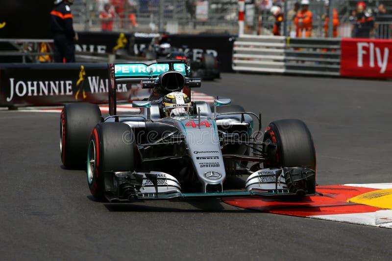 Lewis Hamilton (GBR), equipe de AMG Mercedes F1, Gp 2016 de Mônaco, livre foto de stock