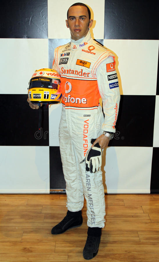 Lewis Hamilton at Madame Tussaud's royalty free stock photo