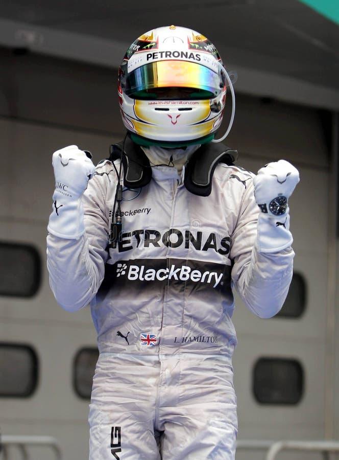 Lewis Hamilton von Mercedes lizenzfreies stockfoto