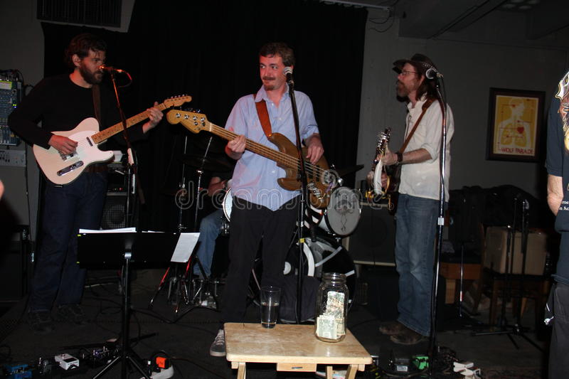Lewis Longmiere & his band stock photo
