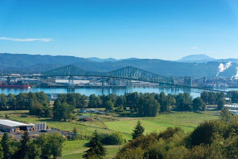 Lewis y Clark Bridge imagen de archivo libre de regalías