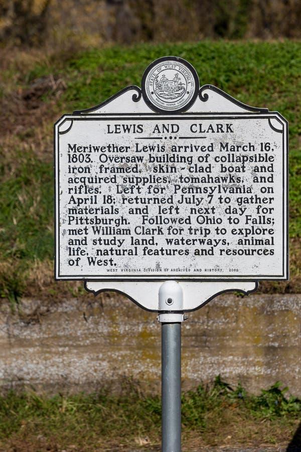 Lewis y Clark Historic Marker fotografía de archivo libre de regalías