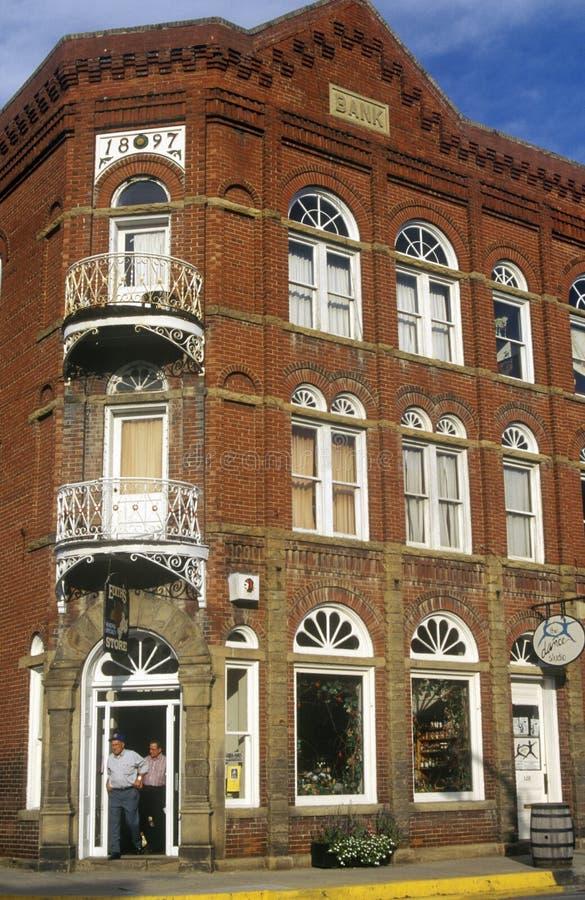 Lewisburg storico, WV lungo l'itinerario 60 degli Stati Uniti immagini stock