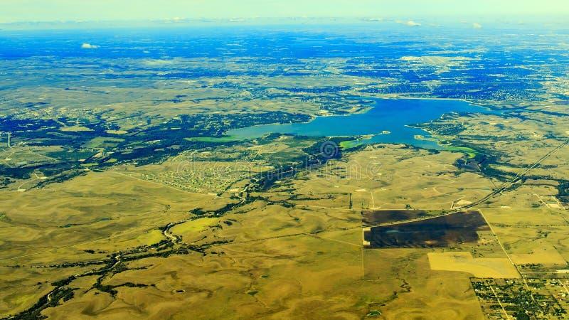 Lewisville See von der Spitze stockfotos