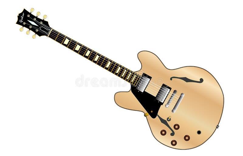 Leworęczna gitara royalty ilustracja