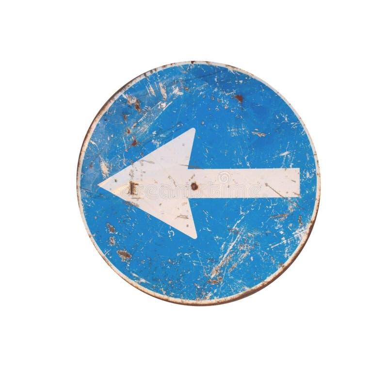 lewy drogowego znaka zwrot zdjęcie royalty free