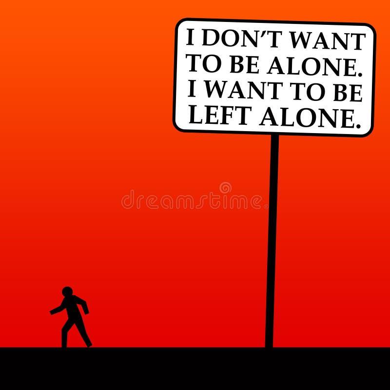 Lewy samotny ilustracja wektor