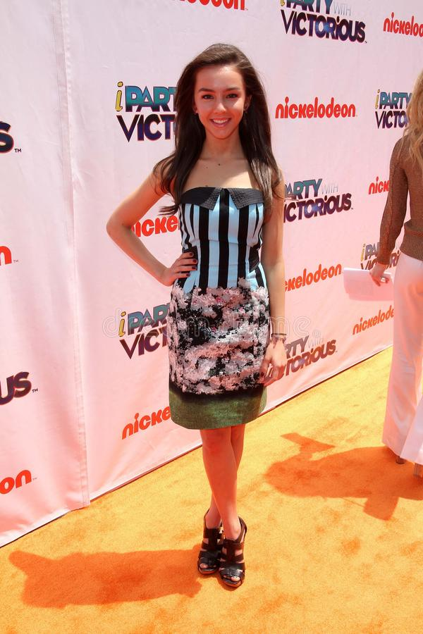 Lexi Ainsworth. At the iParty with Victorious Premiere Event, The Lot, Hollywood, CA. 06-04-11 royalty free stock images